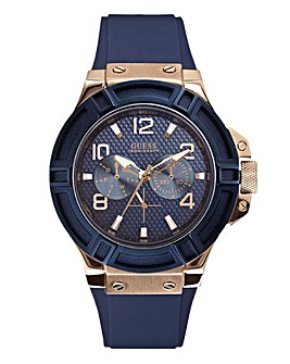 Guess Mens Rigor Navy Watch