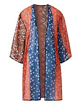 Multiprint Longline Kimono