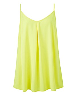 Neon Yellow Strappy Cami Top