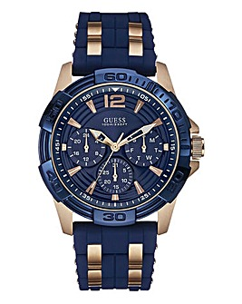 Guess Mens Navy Silicone Watch