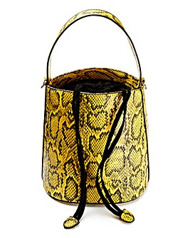 Yellow Snake Bucket Bag