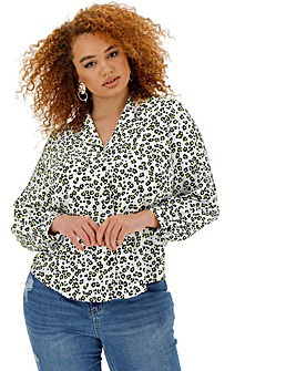 Neon Animal Print Pyjama Style Shirt