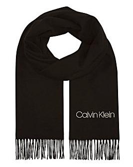Calvin Klein Classic Black Wool Scarf