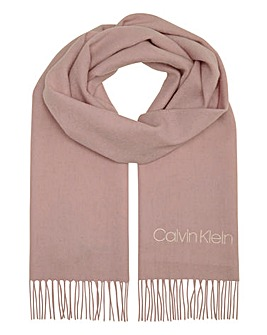 Calvin Klein Classic Pink Wool Scarf