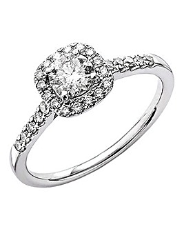 18 Carat White Gold Solitaire Ring
