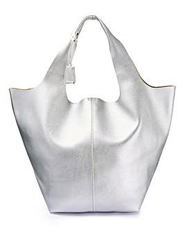 Glamorous Silver Tote Bag
