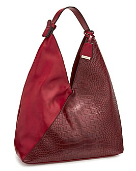 67e29bc9a5526 Glamorous Red Croc Tote Bag
