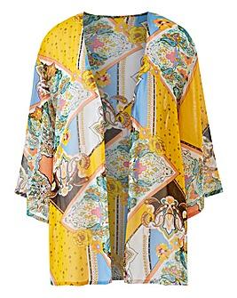 Scarf Print Boxy Kimono
