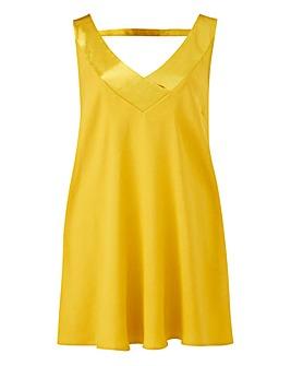 Chartreuse Contrast V-Neck Vest