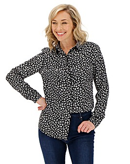 Mono Animal Dipped Back Viscose Shirt