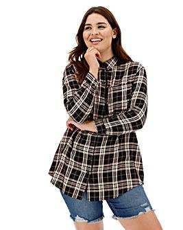 Black/White Boyfriend Style Check Shirt