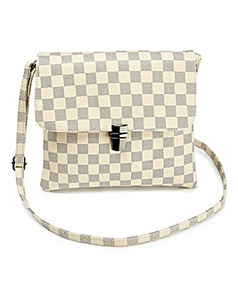 Checked Shoulder Bag