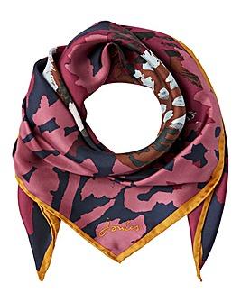 Joules Pheasant Bloomfeiled Silk Scarf
