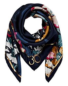 Joules Floral Bloomfeild Silk Scaf