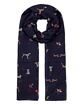 Joules Wensley Dog Print Scarf