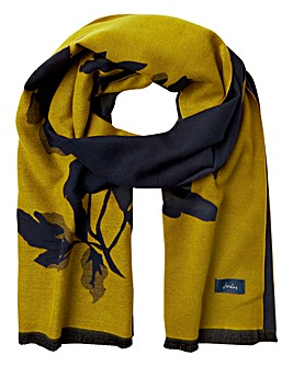Joules Jacquelyn Gold Floral Scarf