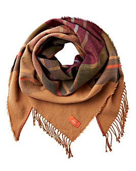Joules Wilstow Brown Check Scarf