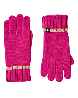 Joules Snowday Pink Gloves