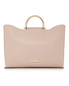 DARE TOP HANDLE TOTE BLUSH PINK