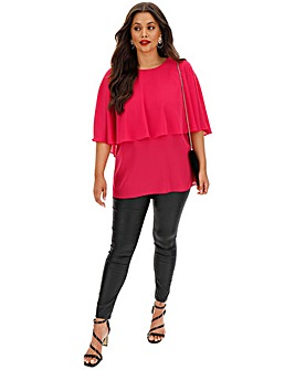 Overlay Frill Blouse