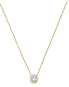 9 Carat Yellow Gold Solitaire Pendant