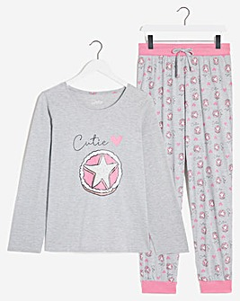 Pretty Secrets Long Sleeve Cuffed Pyjama Set
