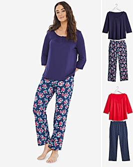 Prety Secrets Long Sleeve 2 Pack Pyjamas