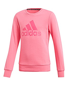 adidas Younger Girls BOS Crewneck
