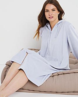 Pretty Secrets Velour Zip Gown L48