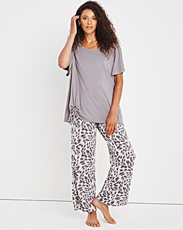 Pretty Secrets Luxury Supersoft Tie Front Top and Trouser Set