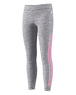 adidas Younger Girls 3 Stripe Leggings
