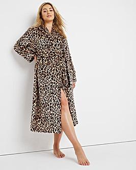 Pretty Secrets Printed Flannel Shawl Collar Gown