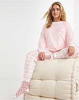 Pretty Secrets Embroidered Fleece Bundle with Cosy Socks