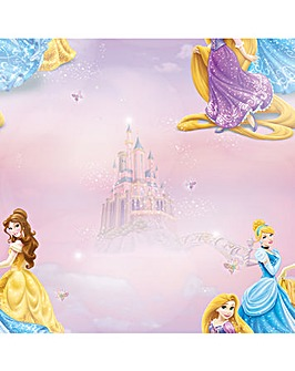 Disney Pretty as a Picture Character Pink/White Wallpaper