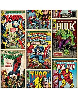 Marvel Avengers Comic Retro Wallpaper