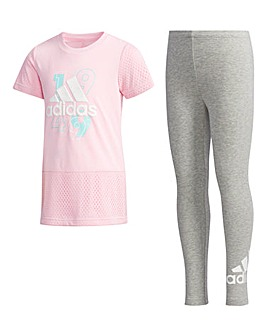 adidas Little Girls T-Shirt & Tight Set