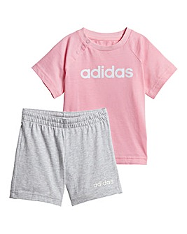 adidas Linear T-shirt and Short Set c7c21f27b359