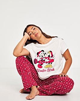 Mickey and Minnie Christmas Pyjama Set