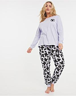 Minnie Mouse Leopard Cuffed Pyjama Set