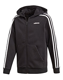 adidas Younger Boys 3 Stripe Hoodie