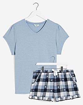 Pretty Secrets V Neck Top & Woven Shortie Scrunchie Set