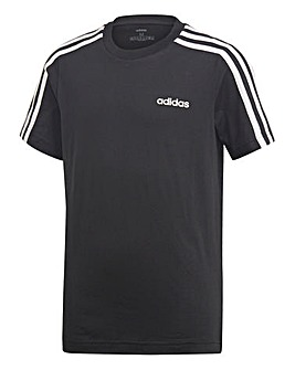 adidas Younger Boys 3 Stripe T-Shirt
