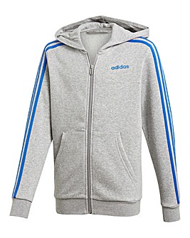 adidas Younger Boys 3 Stripe Hoody