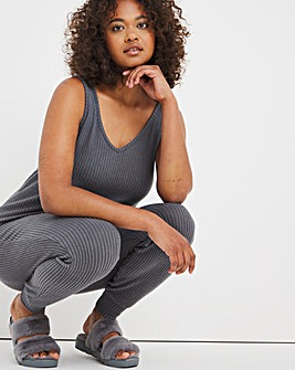 Pretty Secrets Knitted Rib Cami and Cuffed Trouser Set