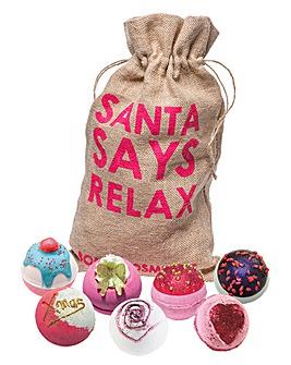 Bomb Cosmetics Santa's Sack Bath Bomb Gift Set