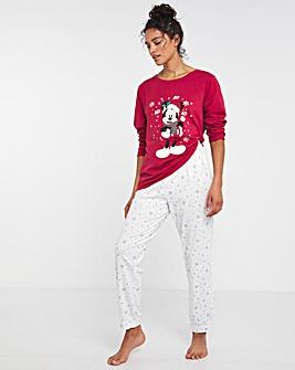 Mickey and Minnie Christmas Cuffed Pyjama Set