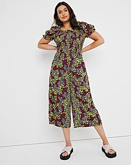 Ditsy Floral Shirred Playsuit