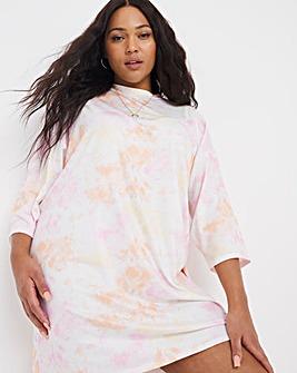 Tie-Dye Oversized T-Shirt Dress