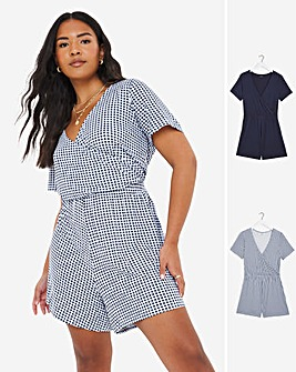 2 Pack Wrap Playsuits