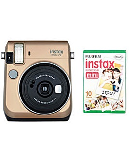 instax Mini 70 camera with 10 shots
